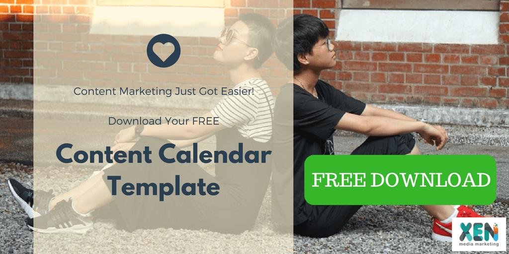 content calendar free template
