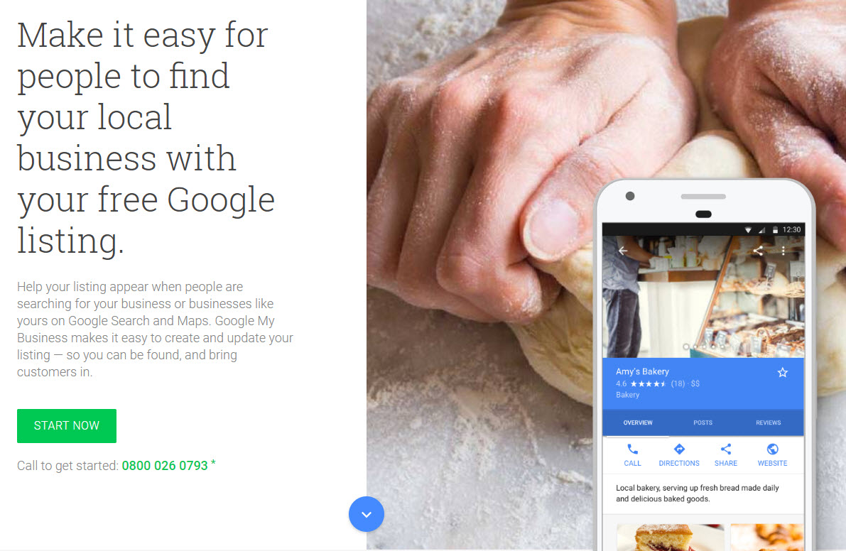 Google for business listing