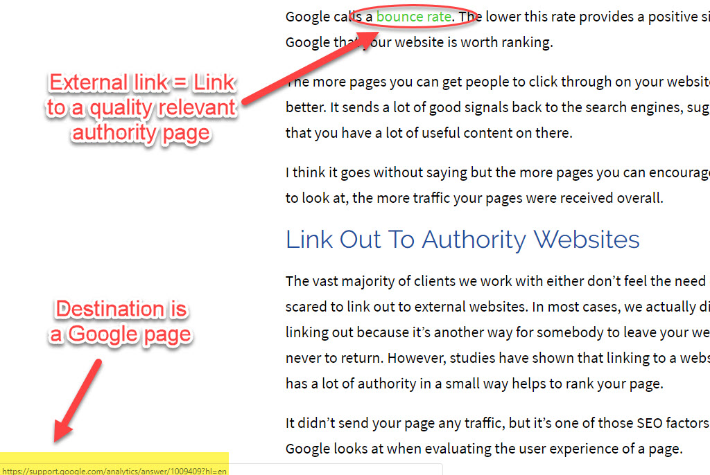 Link Out To Authority Websites