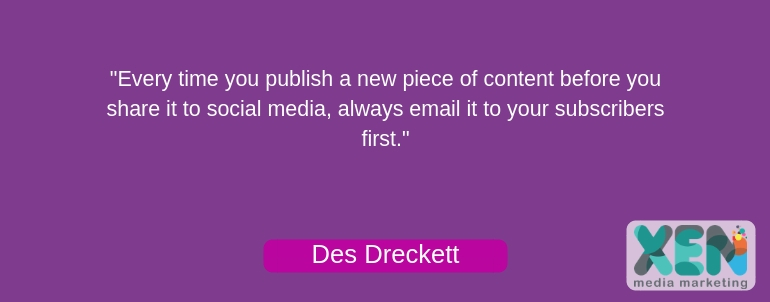 share your content with email subscribers first